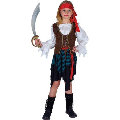 (Karibik-Piraten-Mädchen Kostüm - Klein 3/4 Jahre 110-122cm)