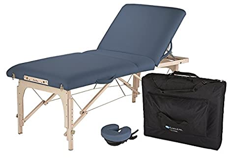 EARTHLITE Avalon XD Massage Therapy Table Package - Premium Value & Style, Professional Massage Table Portable incl. Flex-Rest Face Cradle and Carry Case, Mystic