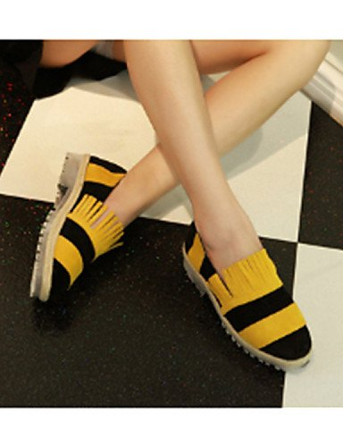 ZQ Scarpe Donna - Mocassini - Casual - Punta arrotondata - Basso - Finta pelle - Giallo / Bianco , yellow-us8 / eu39 / uk6 / cn39 , yellow-us8 / eu39 / uk6 / cn39 white-us6 / eu36 / uk4 / cn36