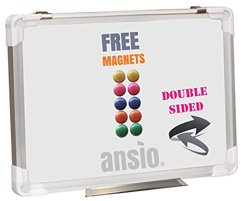 ansio-60cm-x-45cm-double-sided-drywipe-magnetic-whiteboard-with-aluminium-frame-and-vertical-or-hori