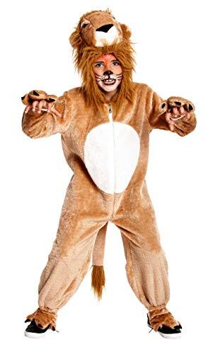 Der Kopf Löwen König Kostüm - Kostümplanet® Löwen-Kostüm Kinder-Kostüm Löwe Junge + Mädchen Fasching Größe 164