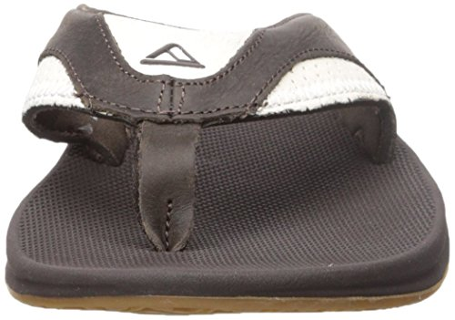 Reef Leather Fanning, Flip-Flop Homme Marron (White/Brown)