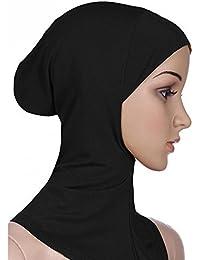 Femme musulmane Coque intégrale intérieure hijab capuchon islamique Underscarf cou Tête Bonnet Chapeau
