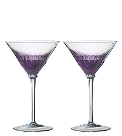 Set of 2 Solar Cocktail Glasses Purple by Anton Studio Designs