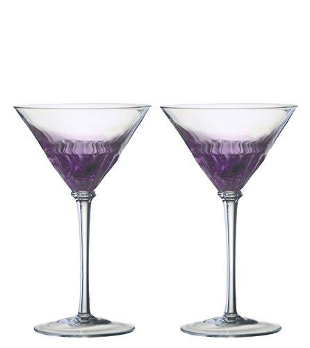 Anton Studio Designs Solar Set aus 2 Martinigläsern, violett Purple Martini-gläser