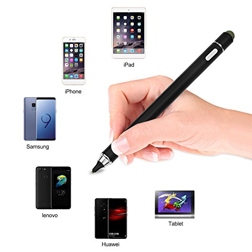 Stylus Touchscreen Pen, Rechargeable Ultra Fine Touch Pen No Need App or  Bluetooth with 1 8mm Tip for iOS, Android,iPhone,iPad,Samsung,Huawei,Tablet