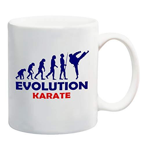 """Taza con diseño de evolución """"Evolution Karate"""""""