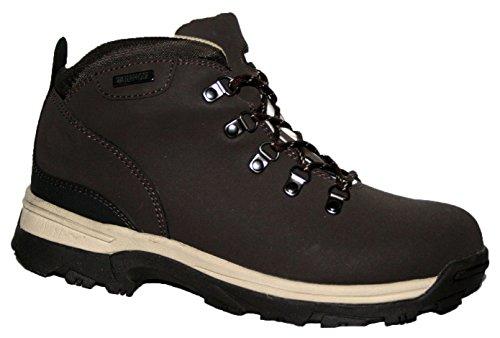Donna TREK Stivali in pelle impermeabile leggero, da Passeggio/escursionismo/trekking. Brown