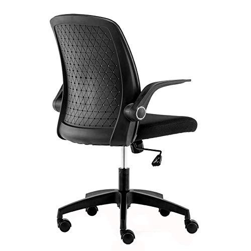ZZHZY Bürodrehstuhl, Computerstuhl, Haushaltsstudienstuhl, Schreibtischdrehstuhl, Schreibstühle für Studierende, Bürostuhl zum Heben, Sitze mit hohler Rückenlehne, Schwarz/Weiß Arbeitsstuhl