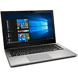"""Medion S3409 - Ordenador portátil 13.3"""" Full HD (Intel Core i3-7100U, RAM de 8GB, SSD de 256GB, Intel HD Graphics, Windows 10), plata. Teclado QWERTY español"""