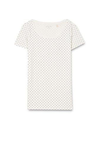 Esprit 017ee1k013, T-Shirt Femme Multicolore (Off White)