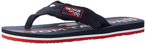 Tom Tailor Herren 2781601 Zehentrenner, Blau (Navy-Red), 43 EU