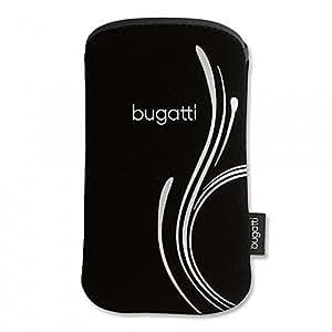 Bugatti Neopren Tasche Case Silver B für Apple iPhone 5 (nur in Verbindung mit Bumper oder Backcase)