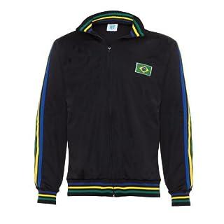 Anandashop Schwarz Capoeira Zip Up Jacke Brasilien Joggingjacke Trainingsanzug Mann Top Alle Größen