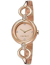 ESPRIT ES107332002–Women's Quartz Watch, Stainless Steel Strap Gold Color Pink