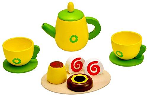 Idena 4100108 - Kleine Küchenmeister Kaffee - Set aus Holz, ca. 24 x 18 x 6 cm, 11-teilig