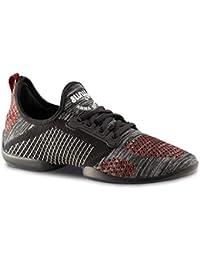 Anna Kern Hombres Zapatos de Baile/Dance Sneakers 4015 Pureflex - Rojo/Gris -