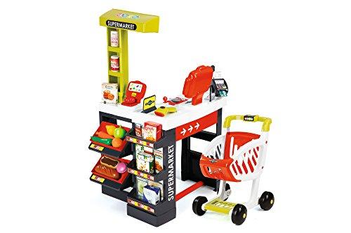 Smoby 350210 - Supermarkt mit Einkaufswagen, Verschiedene Spielwaren
