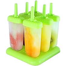 Rainbow Fox 6St. ijs lollies stieleisformen eisformen beste ijscrème vormen Groen vierkant