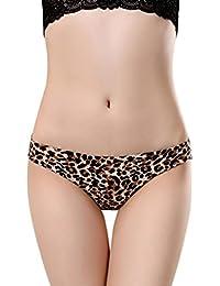 Cinnamou Braga de Bikini con Cintura Elástica Estampada para Mujer Braguitas Huecas Ropa Interior Sexy