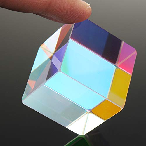 DyNamic 30X30Mm Würfel Defekt Kreuz Dichroitische Prisma Rgb Combiner Splitter Glass Decor