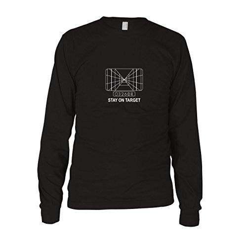 SW: Stay on Target - Herren Langarm T-Shirt, Größe: M, Farbe: schwarz (Prinzessin Leia Jabba The Hutt Kostüm)
