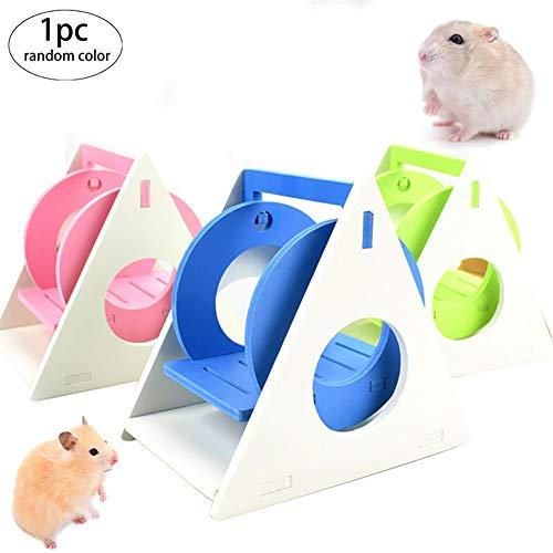 Snner 1pcs Hamster Hamster Balançoire Hideout Rat échelle d'escalade Petits Jouets Accessoires pour Animaux gerbilles Hamster Plus Petits Animaux (Random)