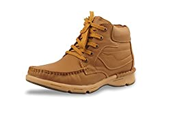 BACCA BUCCI MEN TAN GENUINE LEATHER BOOTS 06 UK