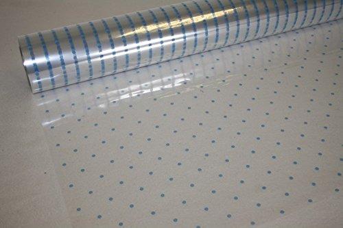 Blue Dot Cellophane Wrap - 10m x 80cm