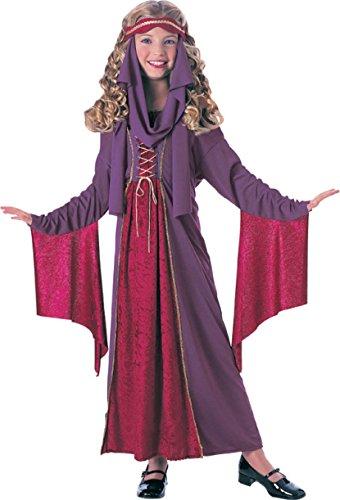 Mittelalterliche Prinzessin für Kinder Fasching Karneval Verkleidung Medium -