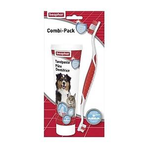 Beaphar Combi-pack Dentifrice + Brosse à Dents