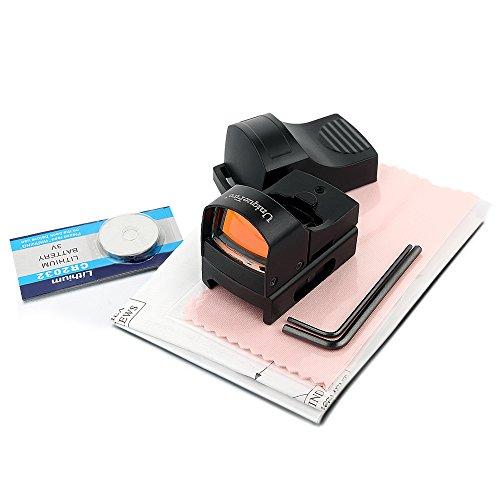 UniqueFire Mini Rouge Dot Sight double luminosité holographique 20 mm Weaver Rail Mount
