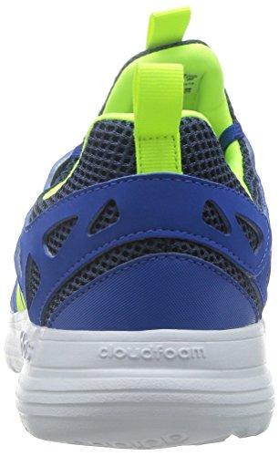 adidas Cloudfoam Sprint, Chaussures de Sport Homme, Noir, Taille Unique Bleu / jaune (bleu / jaune solaire / bleu marine collégial)