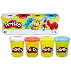 Play-Doh - 4 pots de Pate A Modeler - Multicouleurs - 112 g chacun