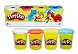 Play-Doh-B6510 Pack 4 Botes, Multicolor (Hasbro B5517