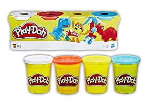 Play-Doh-B6510 Pack 4 Botes, multicolor (Hasbro B5517)