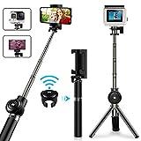Vproof Palo Selfie, Extensible Selfie Stick Trípode Bluetooth con Control Remoto Inalámbrico, Monopod Compacto para iPhone XS MAX/XR/X/8 Plus/7 Plus/6S, Galaxy Note 9 y Cámaras GoPro