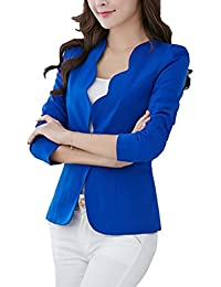 Vertvie Femme Veste de Tailleur Courte Casual Slim OL Blazer Costume d'Affaires