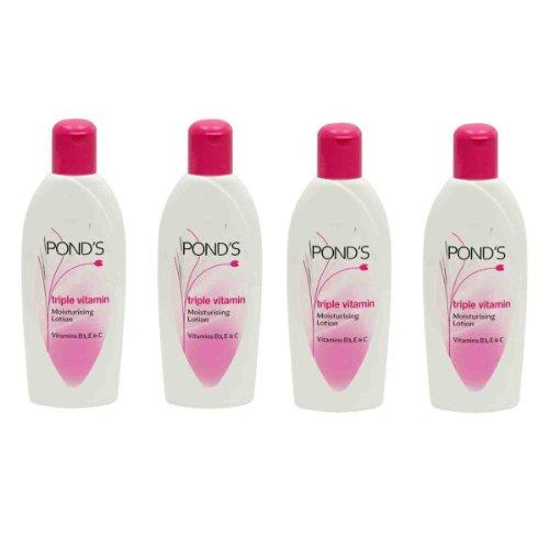 Ponds Triple Vitamin Moisturising Lotion (100ML, Pack of 4)