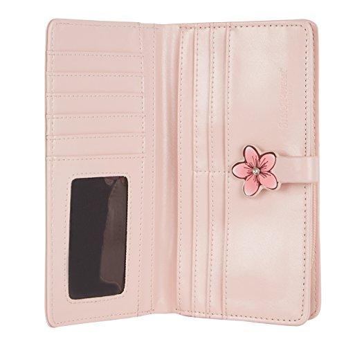 Shagwear portafoglio per giovani donne , Large Purse : Diversi colori e design : lampioncino rosa / Lanterns