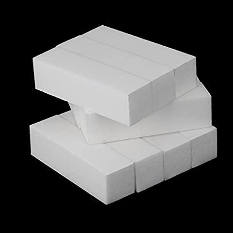 putny (TM) 10pcs bianco Cura per Nail Art Buffer acrilico levigatura File strumento di buffer per unghie