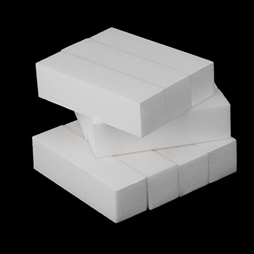 valoxin (TM) 10pcs bianco Cura per Nail Art Buffer acrilico levigatura File strumento di buffer per unghie