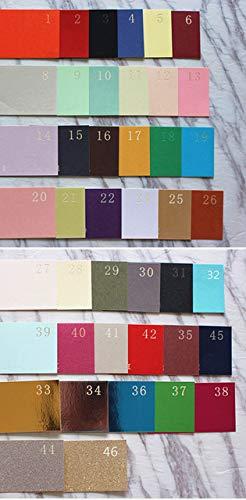 Dodom Elegant Wedding Card Invitation Laser Cut Valentine's Day Greeting Card Printable Glittery Insert Custom Belly Band 50pcs,Choose Color,Whole Set
