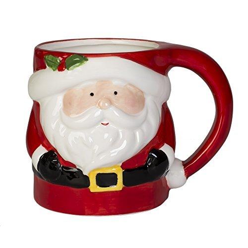 Kaffeetasse mit Weihnachtsmann-Motiv, Keramik, 340 ml, Dolomit -