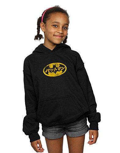 DC Comics Girls Batman Japanese Logo Yellow Hoodie