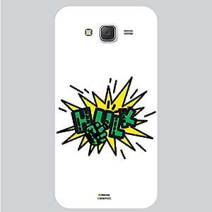Hamee Original Marvel Character Licensed Designer Cover Slim Fit Plastic Hard Back Case for Samsung Galaxy J7 - 2016 Edition (Hulk Typography/White )