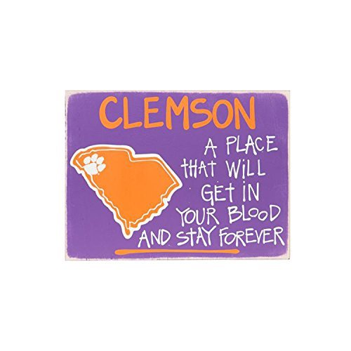 Glory Haus Clemson Map Sign, 12 x 16-Inch by Glory Haus -