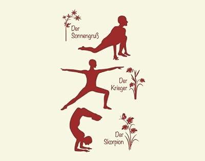 Wandtattoo Yoga Figuren Set 1