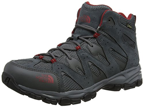 4aedce7b6 The North Face Men's Storm Mid Gore-TEX EU High Rise Hiking Boots,  multicolour (Dark Shadow Grey/Rudy Red), 9 UK 43 EU