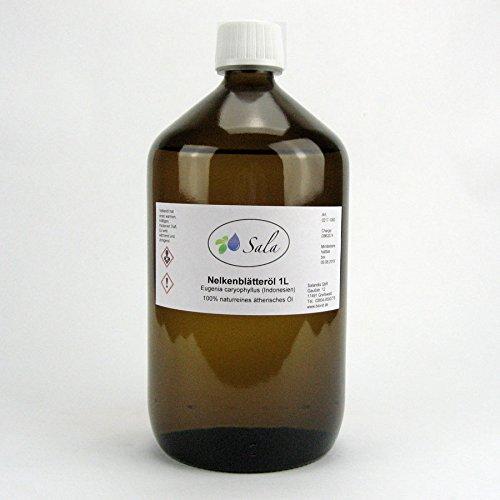 Sala Nelkenblätteröl ätherisches Nelkenöl naturrein1 L 1000 ml (L ätherisches öl)